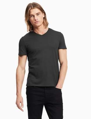 Calvin Klein slim fit textured v-neck t-shirt