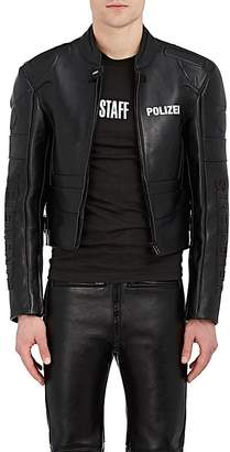 "Vetements MEN'S ""POLIZEI"" CALFSKIN MOTO JACKET"