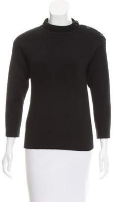 Nina Ricci Rib Knit Wool Sweater