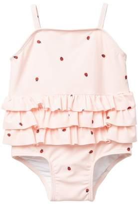 80eefe1b6eaec Tucker + Tate Ladybug Tiered Ruffled One Piece Swimsuit (Baby Girls)