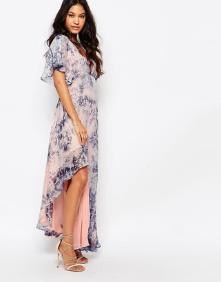 Foxiedox Printed Kimono Sleeve Maxi Dress $138 thestylecure.com