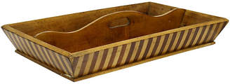 One Kings Lane Vintage English Art Deco Cutlery Tray - Rose Victoria