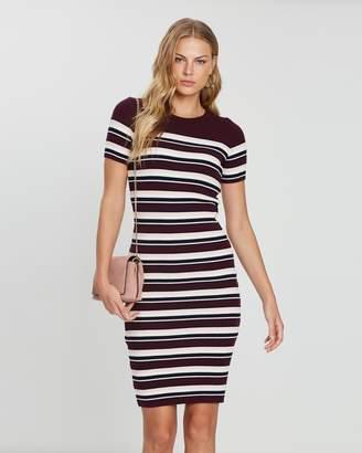 Dorothy Perkins Stripe Knit Midi Dress