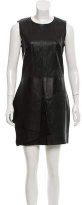 Neil Barrett Leather Mini Dress