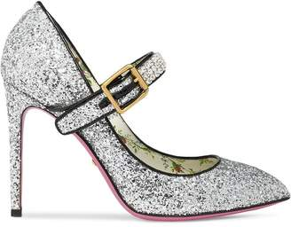 Gucci Glitter pump with crystals