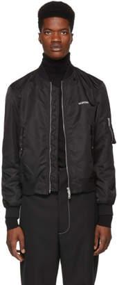 Valentino Black Logo Bomber Jacket