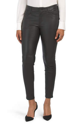 Skinny Ankle Leather Pants