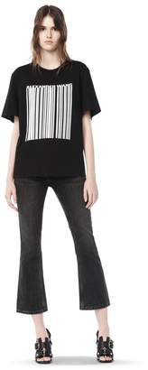 Alexander Wang Boxy T-Shirt With Printed Barcode