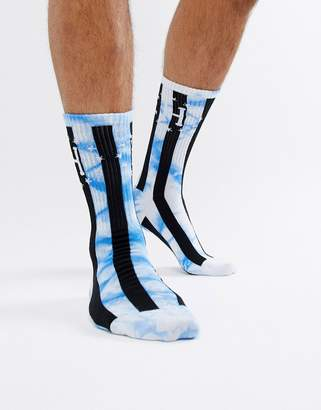 HUF bad referee striped socks in blue
