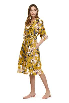 Country Road Print Tie Waist Dress