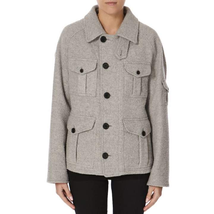 Grey Wool Blend Callaghan Teddy Coat
