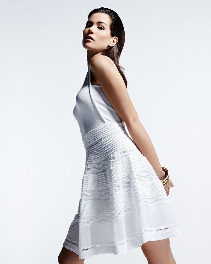 M Missoni Rib-Stitch Fit-and-Flare Dress