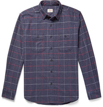 Faherty Windowpane-Checked Cotton-Flannel Shirt