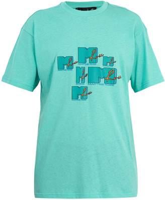 Martine Rose MTV logo-print cotton T-shirt