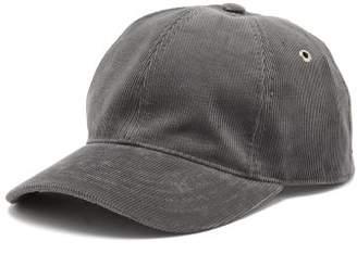 Ami Logo Embroidered Corduroy Baseball Cap - Mens - Grey