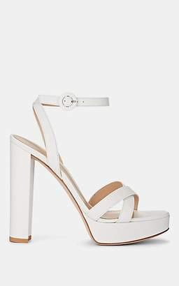 Gianvito Rossi Women's Poppy Leather Platform Sandals - White