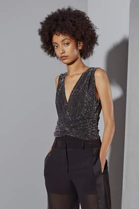 French Connenction Marcelle Shimmer Jersey Body