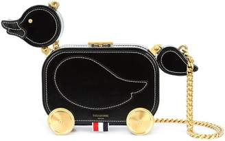 Thom Browne Duckling Bag With Chain Shoulder Strap In Calf Leather