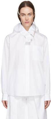 Craig Green White Cotton Poplin Hood Shirt