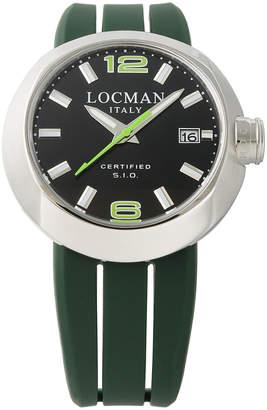 Locman (ロックマン) - LOCMAN ラウンドウォッチ デイト表示 取替ベルト付 ケース:ブラック ベルト:グリーン、ブラック