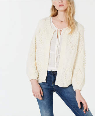 Lucky Brand Textured Open-Front Cardigan