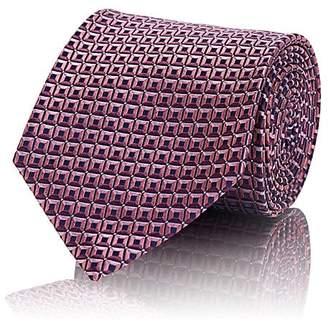 Ermenegildo Zegna Men's Square-Print Silk Necktie