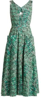 Saloni Zoey seaweed-printed cotton dress
