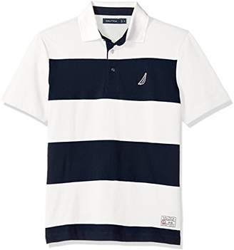Nautica Men's Classic Fit Cotton Jersey Striped Polo Shirt