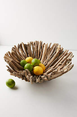 Anthropologie Driftwood Decorative Bowl