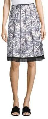 Marc Jacobs Gored Printed Skirt