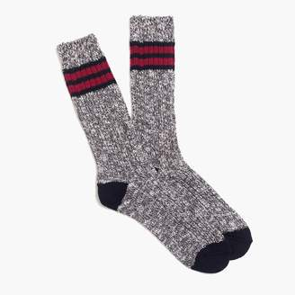 J.Crew Placed-stripe camp socks
