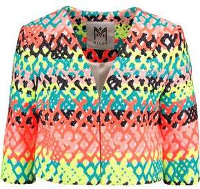 Milly (ミリー) - Milly Cropped Jacquard Jacket
