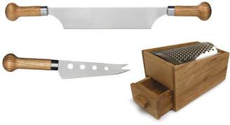 Sagaform Nature Oak & Stainless Steel Cheese Tool Set