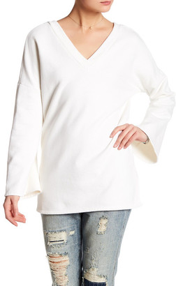 NYTT Double V-Neck Sweatshirt $84 thestylecure.com