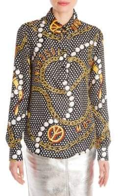 Moschino Printed Silk Blouse
