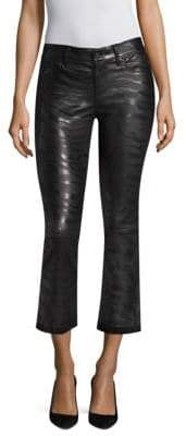 RtA Kiki Zebra Stripe Leather Pants
