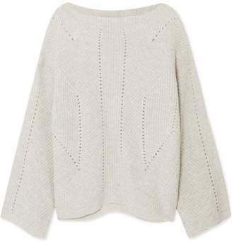 Nili Lotan Leyton Ribbed Cashmere Sweater - Gray 1b3f6843a