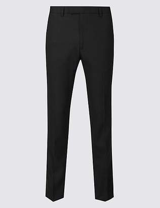 M&S Collection Big & Tall Black Slim Fit Trousers