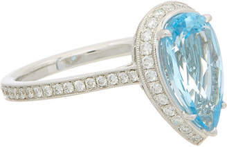 Effy Fine Jewelry 14K 3.41 Ct. Tw. Diamond & Blue Topatz Ring