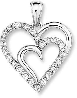 Amor Pendant Silver 925 Zirconium Oxide -377447