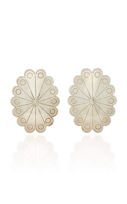 Fallon One-Of-A-Kind Oval Etched Conch Earring