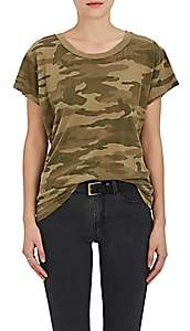 Current/Elliott Women's Camouflage Cotton T-Shirt - Dk. Green