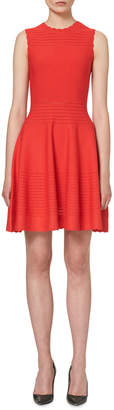 Carolina Herrera Scalloped Sleeveless Knit Dress