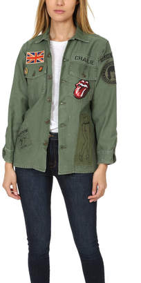 MadeWorn Rock Rolling Stones Sequin Army Jacket