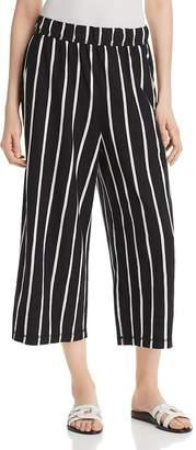 Eileen Fisher Striped Wide-Leg Crop Pants