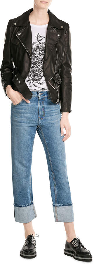 Alexander McQueen Turn Up Boyer Jeans