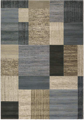 "Couristan Area Rugs, Taylor Geometrics Tan-Teal 5'3"" x 7'6"""