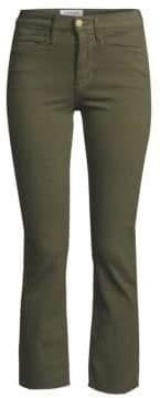 Frame Le High Straight Leg Raw Stagger Hem Jeans