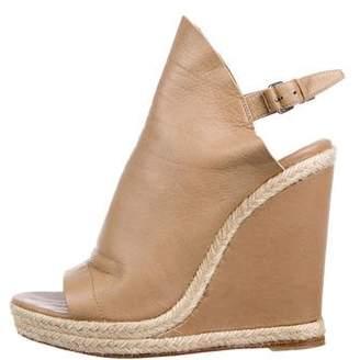 Balenciaga Leather Strap Wedge Sandals