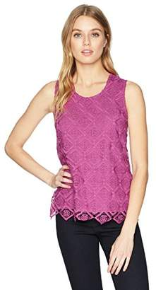 Nanette Lepore Nanette Women's Knit Top with Crochet Overlay